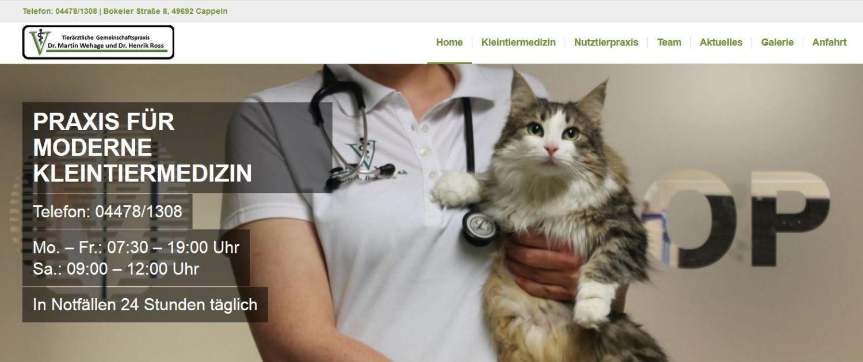 Tierärztliche Gemeinschaftspraxis Dr. Wehage und Dr. Ross aus Cappeln